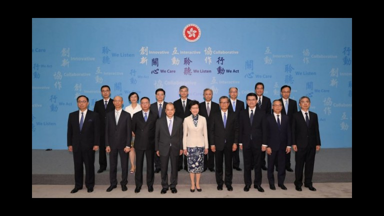 Carrie Lam's new cabinet & discussion with Anson Chan, renewable energy in HK