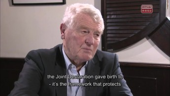 Interview with Paddy Ashdown, former leader of UK Liberal Democrats, Kwok Cheuk-kin